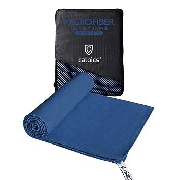 Toalla de microfibra de Caloics, toalla de baño absorbente y antibacteriana de secado súper rápido