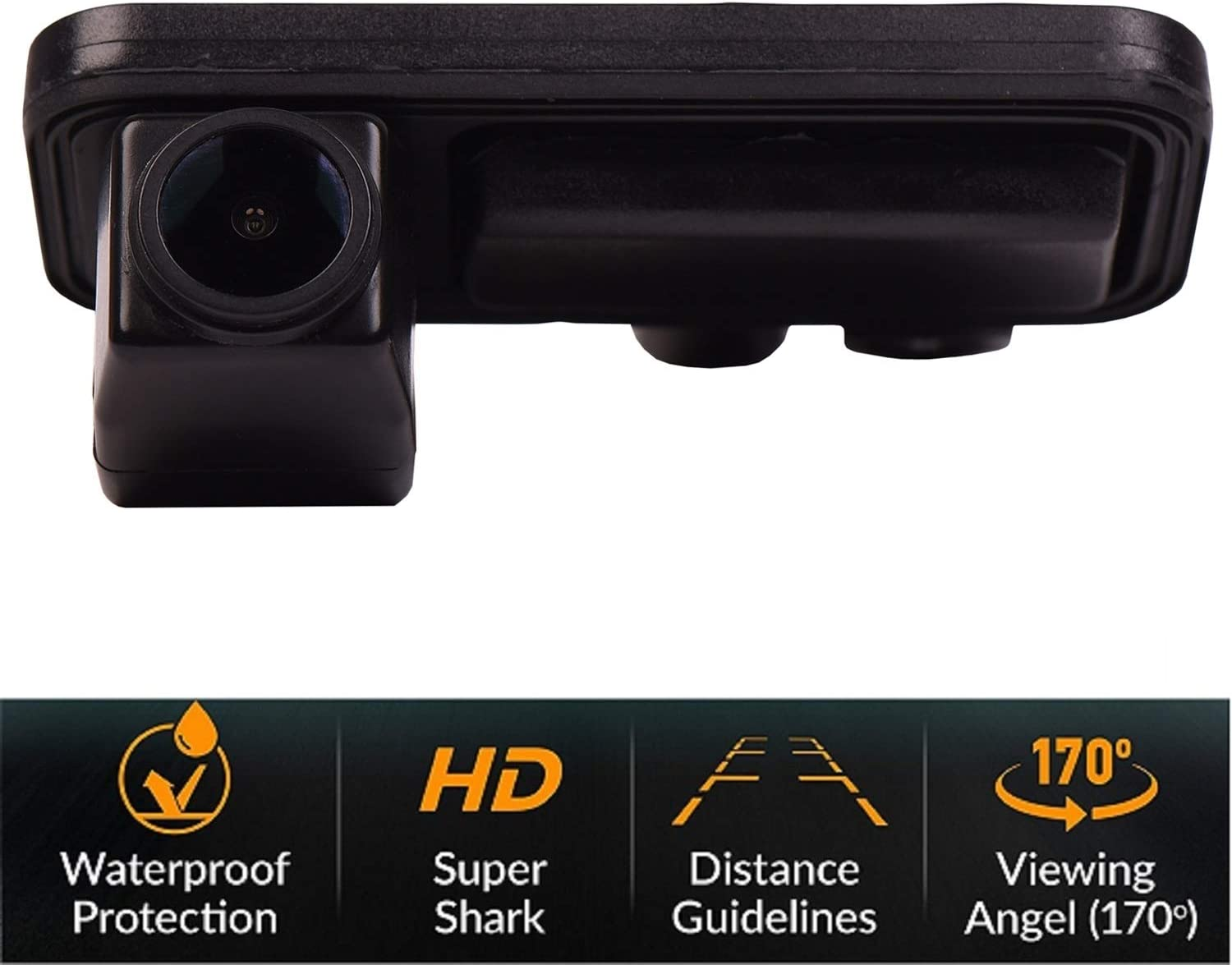 HD 1280x720p Rear Reversing Backup Camera Rearview License Plate Camera Night Vision Ip68 Waterproof for Mercedes Benz GLK Class X204 GLK280 GLK300 GLK350 GLK200 GLK220 GLK250 GLK320 CD