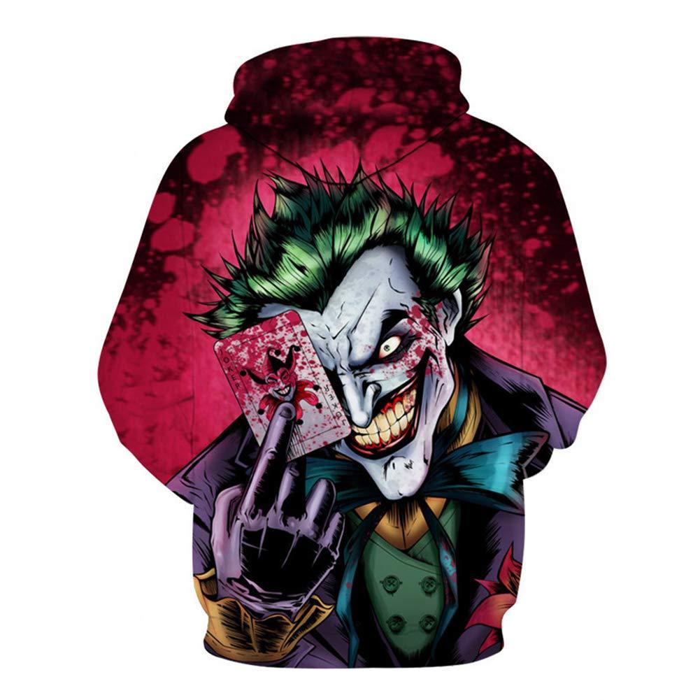 Skyyeox Unisex Galaxy Halloween 3D Digital Printing Drawstring Hoodie Long Sleeve Pullover Sport Sweatshirt