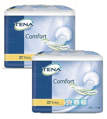 Tena Comfort Compresas Extra, 80 Unidades