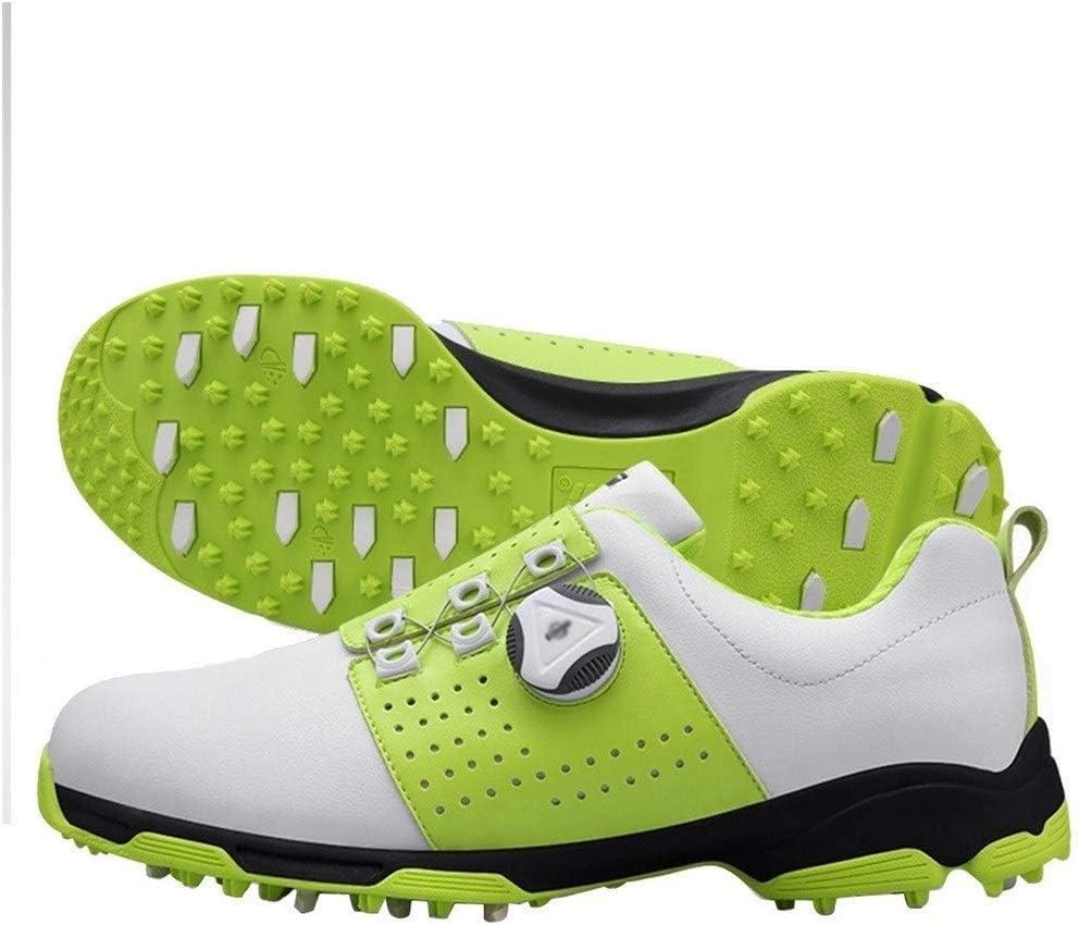 Linannau ゴルフシューズ スパイクレスシューズ 防水 滑り止め 耐磨耗性 回転ボタン 多機能 アウトドア (色 : オレンジ, サイズ : 45)