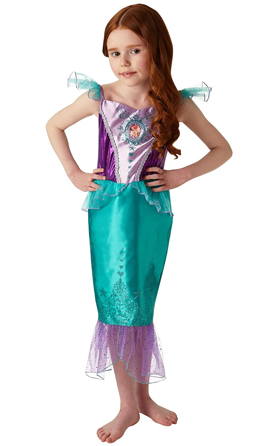 b1ebda371 Rubie's 640716S Official Disney Princess Ariel Gem Costume, Girls, Small 3-4  Years, Height 104 cm: Amazon.co.uk: Toys & Games