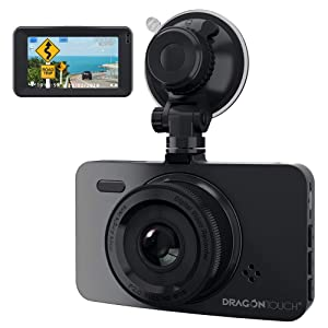 """Car Camera Dash Cam,Dragon Touch 1080P FHD Dash Camera for Cars,3"""" LCD 170° Wide Lens Dashboard Camera Recorder Night Version,Dashcam with G-Sensor,WDR,Loop Recording,Parking Monitor(D1)"""
