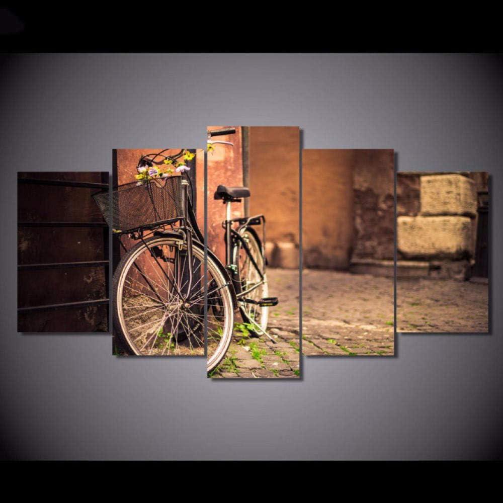 Ysain Moderno Para Pintar 5 Paneles La Bicicleta Paisaje Pintura ...
