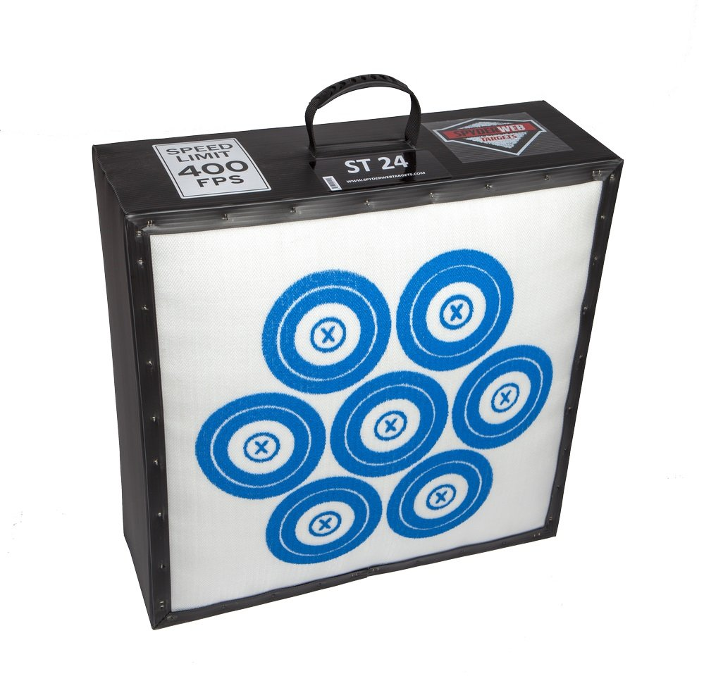 SpyderWeb ST 24  Field Point Archery Target 24 Inch x 24 Inch x 12 Inch 42 Pounds