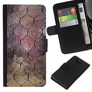 KLONGSHOP // Tirón de la caja Cartera de cuero con ranuras para tarjetas - Ventana Diseño Arquitectura alambre - Samsung ALPHA G850 //