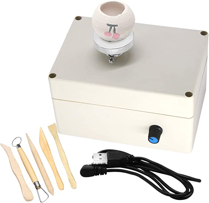 T/öpferscheibe 12V Mini Clay Making Pottery Machine f/ür DIY Keramikarbeiten Clay Art Craft 100-240V EU-Stecker 100-240V