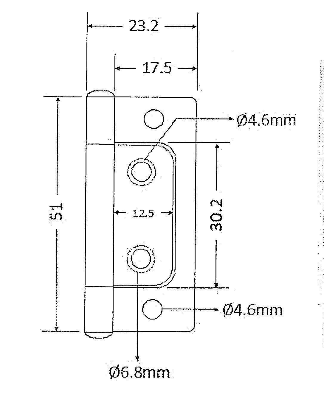Amazon.com: Bisagra cromada de 2 x 11/16 pulgadas sin ...