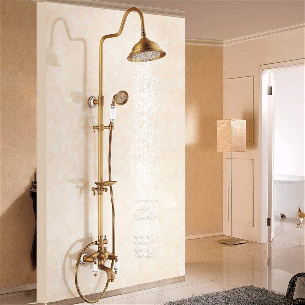 B Antiquity Shower taps, Shower, Shower, Glass of Copper, hot & Cold Shower Frames, Shower, Communities Style,