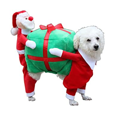 Minisoya Pet Dog Christmas Gift Santa Cosplay Costume Puppy Festival Outfit  Clothes (Red, S - Amazon.com: Minisoya Pet Dog Christmas Gift Santa Cosplay Costume