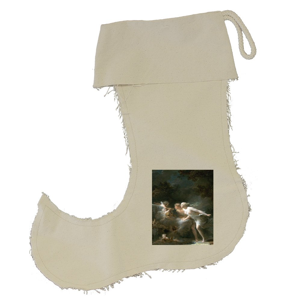 The Fountain Of Love (Fragonard) Cotton Canvas Stocking Jester - Large
