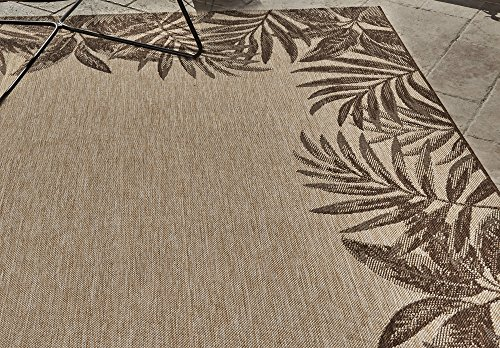 Outdoor Rugs 21260 Nautical Tropical Patio 5x7 Standard