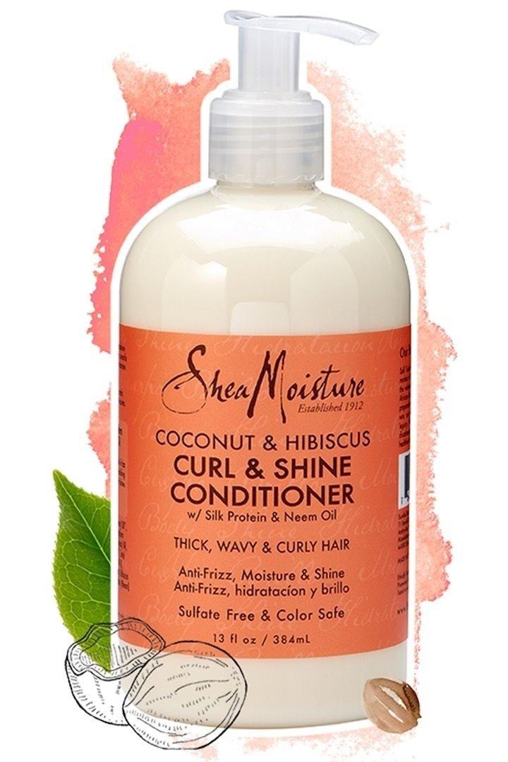 Shea Moisture, Balsamo Curl & Shine per capelli ricci, profumo: Cocco e Ibisco, 384 ml 290629