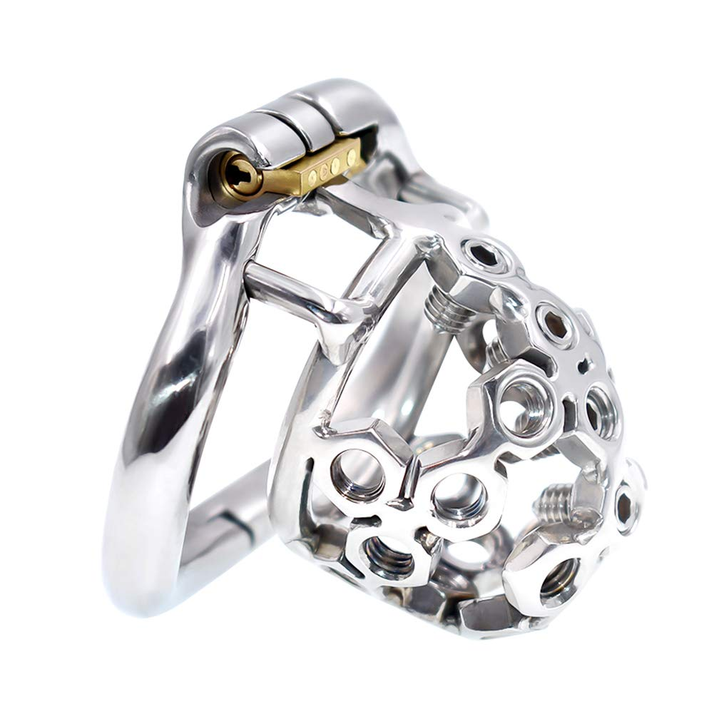 YiFeng Stainless Steel Male Chastity Cage Device Belt (45mm Ring) 197 by YiFeng