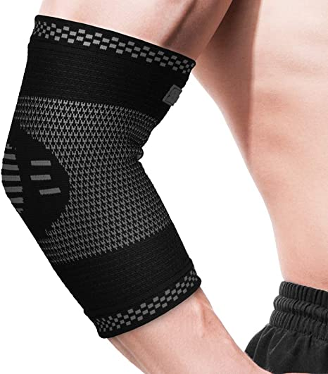 Elbow Support Elbow Brace Compression Arm Sleeve For Tendonitis Arthritis Best For Tennis Elbow Golf Weightlifting Women Men Kids Pair Black Small Amazon Co Uk Sports Outdoors