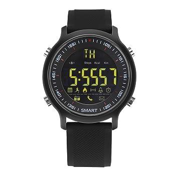 iMusk EX18 Reloj Inteligente Hombres Reloj Deportivo 5 ATM Impermeable Bluetooth 4.0 SmartWatch podómetro Llamada recordatorio de cronómetro