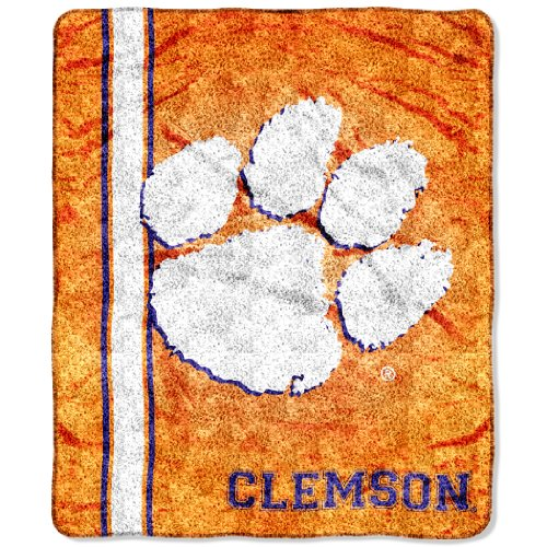 The Northwest Company Officially Licensed NCAA Clemson Tigers Jersey Sherpa on Sherpa Throw Blanket, 50