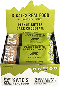 Kate's Real Food Grizzly Bars - 6-Pack Peanut Butter Dark Chocolate, One Size