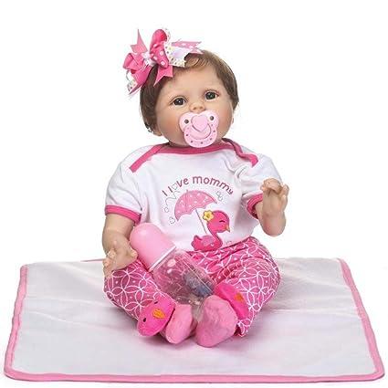 Amazon.es: 22 55cm reborn silicona muñecas bebés juguetes ...