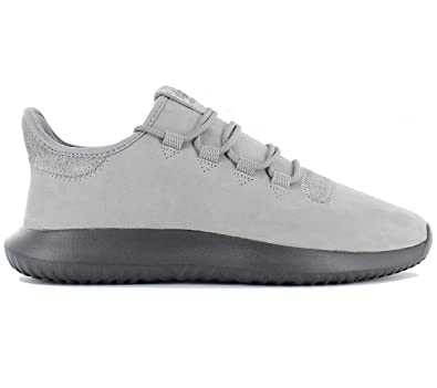 adidas Originals Tubular Shadow Leather Herren Schuhe Sneaker Turnschuhe  Leder Grau