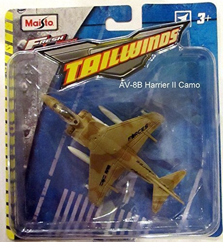 Maisto Fresh Metal Tailwinds Tan Camo AV-8B Harrier II Plane ()