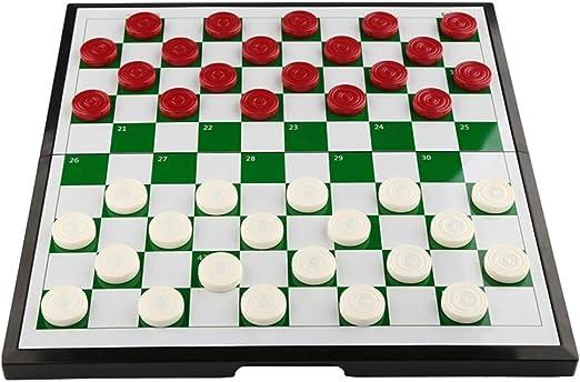 Juegos tradicionales Ajedrez Creativo Juego de damas de plástico para niños Estudiantes de ajedrez Rompecabezas de piezas de ajedrez magnéticas de cuadrícula 64/100 Plegables damas portátiles de ajedr: Amazon.es: Hogar