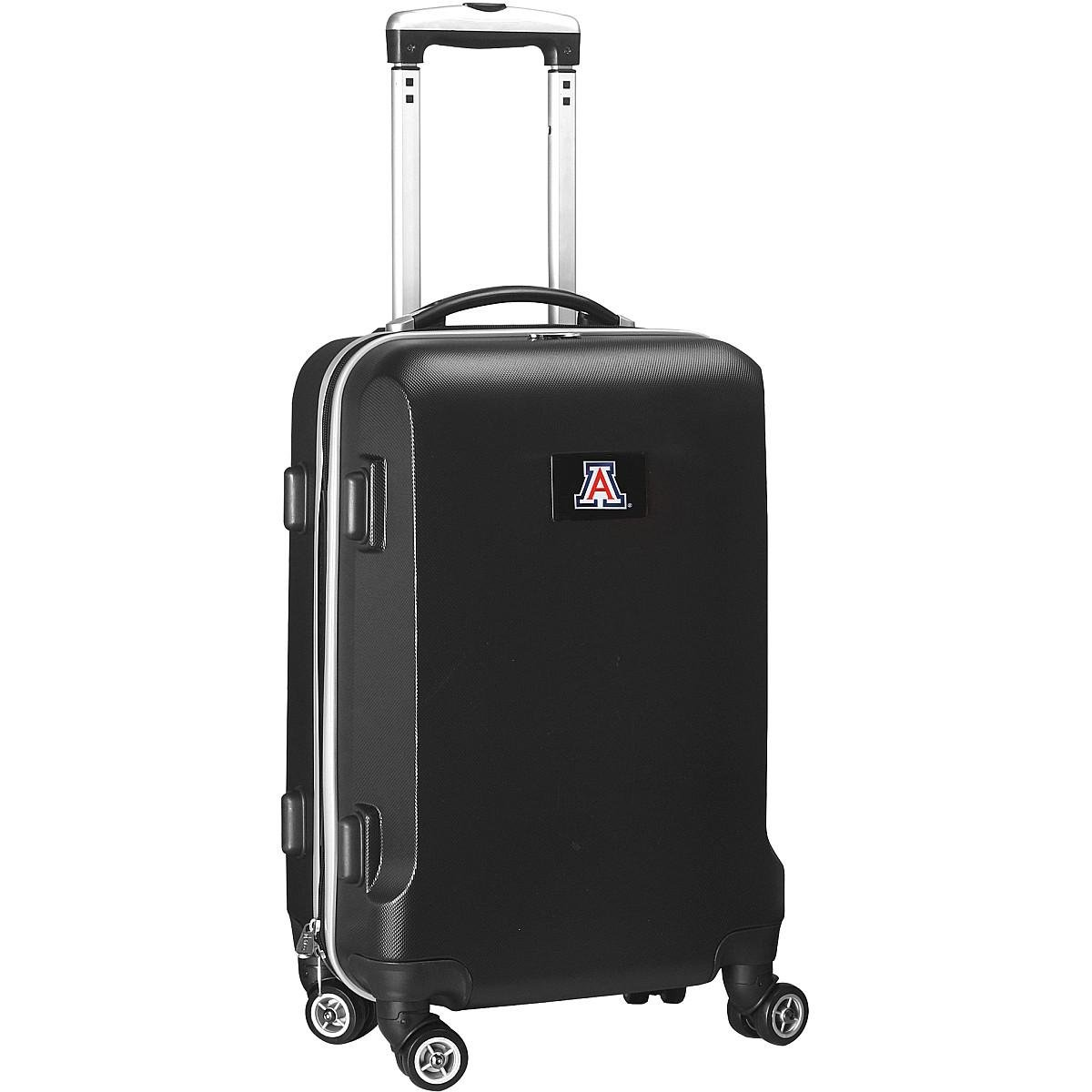 Denco NCAA Arizona Wildcats Carry-On Hardcase Luggage Spinner, Black