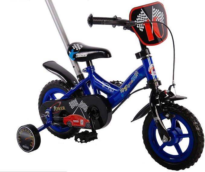 25.4 cm de alimentación azul bicicleta infantil con ruedines y la ...