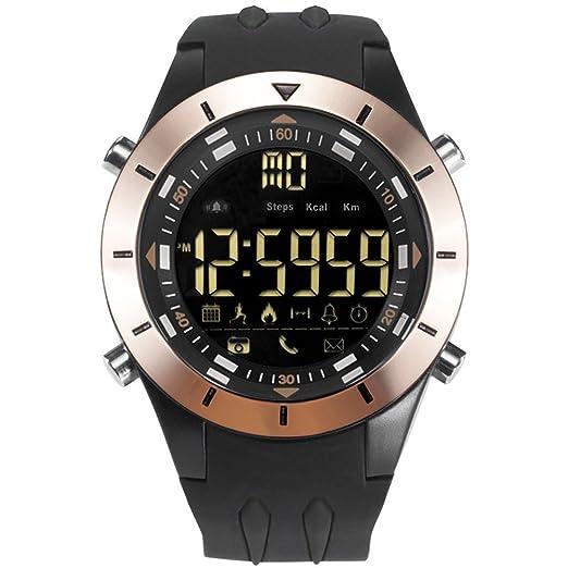 Honneury Reloj cronógrafo multifunción Running Sport Reloj Impermeable Digital (Color : Gold)