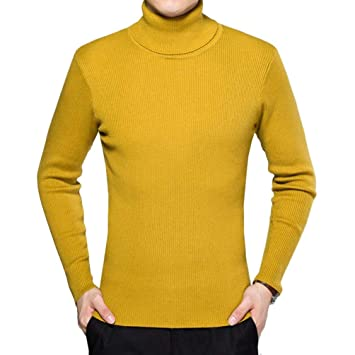 Amazon.it: Maglie Collo Alto Uomo Giallo