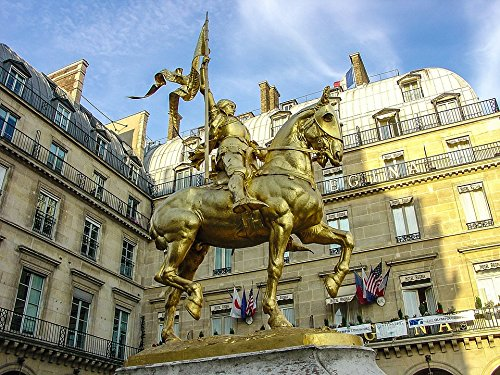Joan Of Arc Statue Paris - LAMINATED POSTER Sculpture Paris Joan Of Arc France Horse Statue Poster 24x16 Adhesive Decal