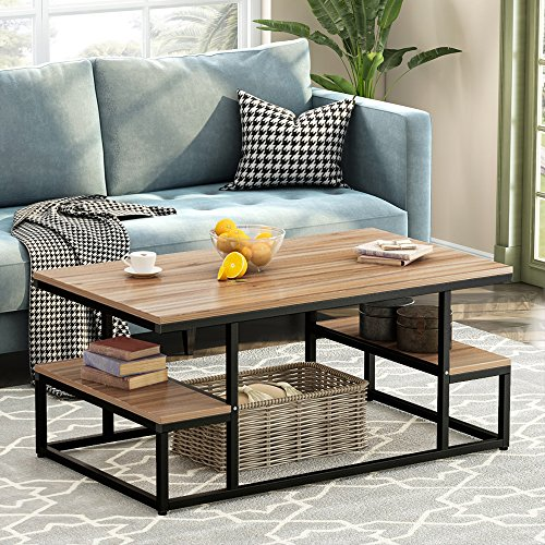 Modern Industrial Coffee Table, LITTLE TREE 48
