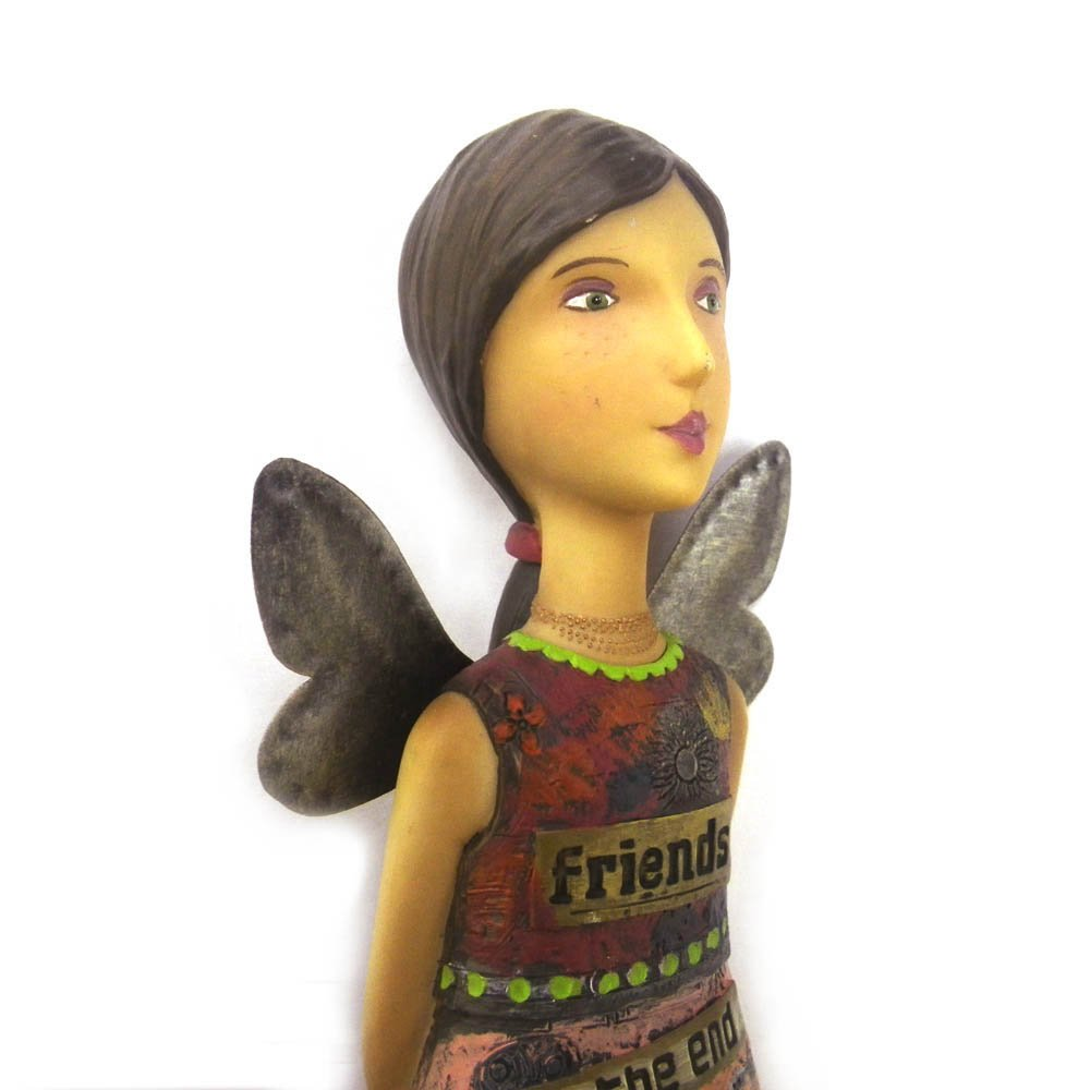 Kelly Rae Roberts Friends Angel Figurine