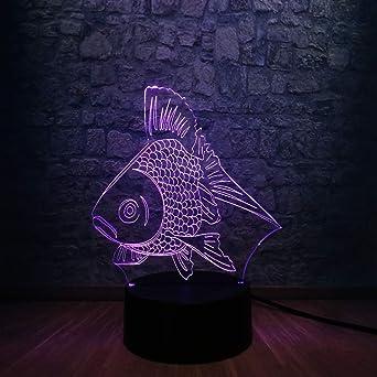 Lampe 7 Couleurs Goldfish Usb Nuit Jour 3d Led Cadeau Changeantes 3jLq4Ac5R