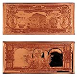 """1 - 1901 $10 """"Bison"""" United States Bank Note Design 1 Ounce Copper Bar - Uncirculated"""