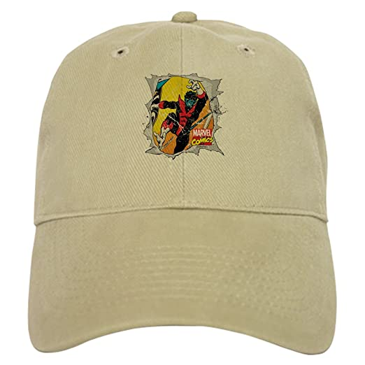 5940751f9cfe83 Amazon.com: CafePress Nightcrawler X Men Baseball Cap with Adjustable  Closure, Unique Printed Baseball Hat Khaki: Clothing
