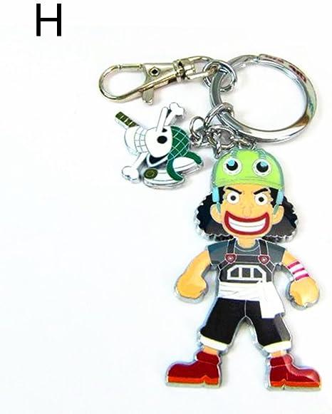 Amazon.com: One Piece metal Llavero Franky Brook Nico Robin ...