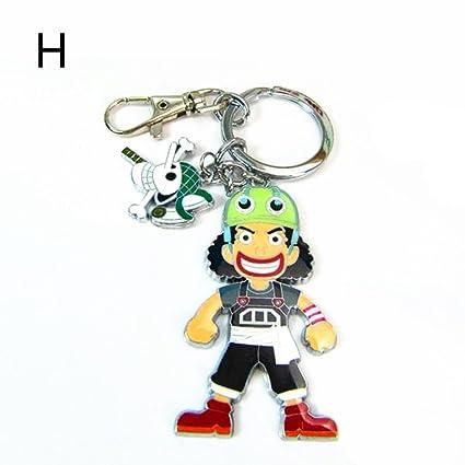 One Piece Llavero de metal Franky Brook Nico Robin Usopp ...