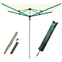 FunkyBuys® 50M 4 Arm Heavy Duty Rotary Airer/Dryer