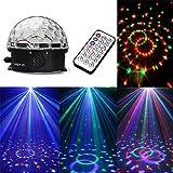 Ecloud Shop 12W LED RGB Bola Luz Iluminación Efecto Disco DJ Discoteca AC 90-240V 180°MP3