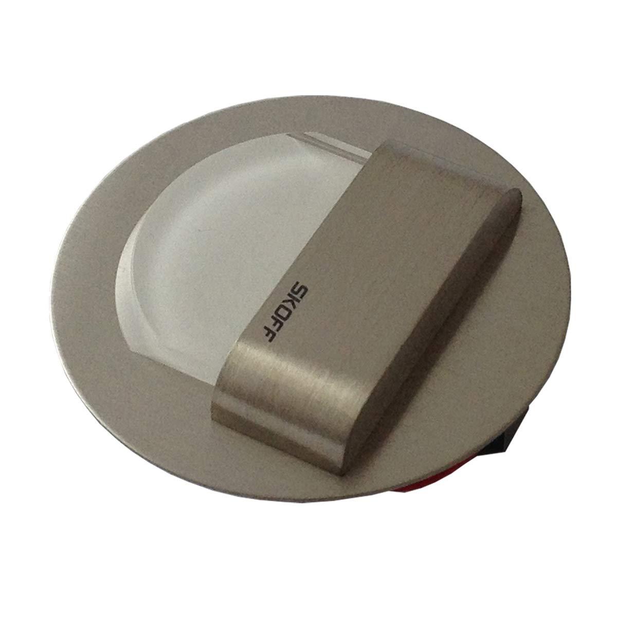 22800242 - SKOFF LED Escaleras Iluminación Juego de 2 rueda (hasta 7) Acero Inoxidable Cepillado luz Color: Blanco Cálido, 10 V 0,8 W IP20.