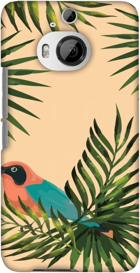 AMZER Slim Fit Handcrafted Designer Printed Snap On Hard Shell Case Back Cover for HTC One M9 Plus - Homely Nature - Beige HD Color, Ultra Light Back Case