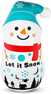 Aywewii Inflatable Snowman Tumbler, Inflatables Decorations, 3.8 FT Inflatable Snowman for Home Indoor Outdoor Holiday Yard Decorations
