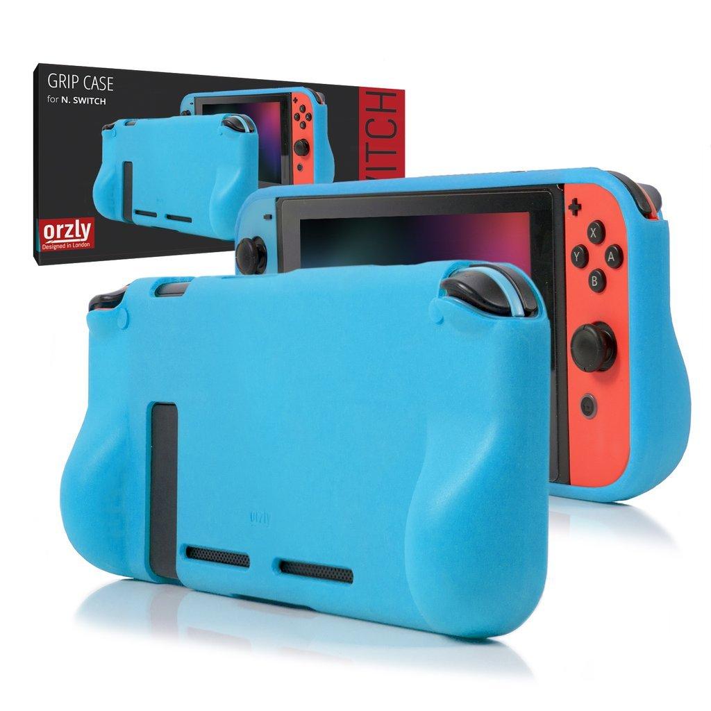 ORZLY® Funda Comfort Grip Case para la Nintendo Switch – Carcasa Protectora con puños de Mano Rellenos Integrados para la Parte Posterior de la ...