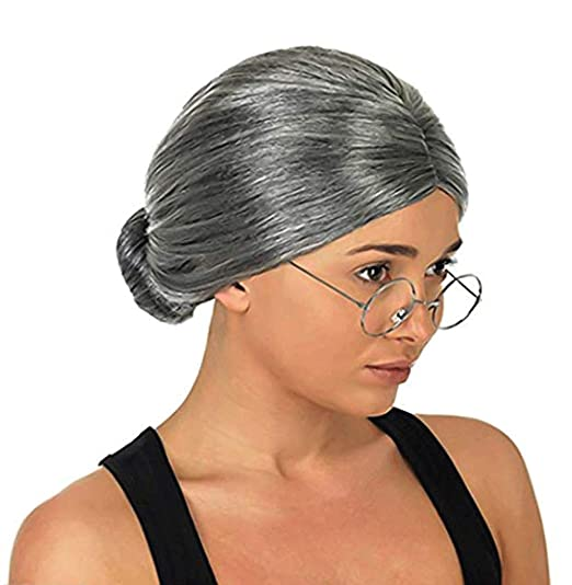 Image Unavailable. Image not available for. Color  Costume Old Lady Wig ... 886ce3996