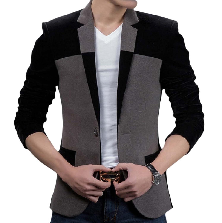 d38623c30447 Yusky Men s Casual One Button Business Hit Color Suit Coat Jacket durable  service