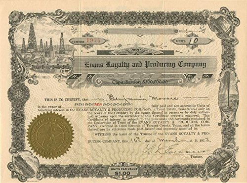 Evans Royalty and Producing Company