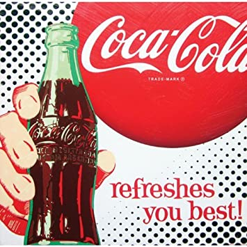 Amazon.com: Coca-Cola Canvas Wall Art Refreshes You Best: Kitchen ...