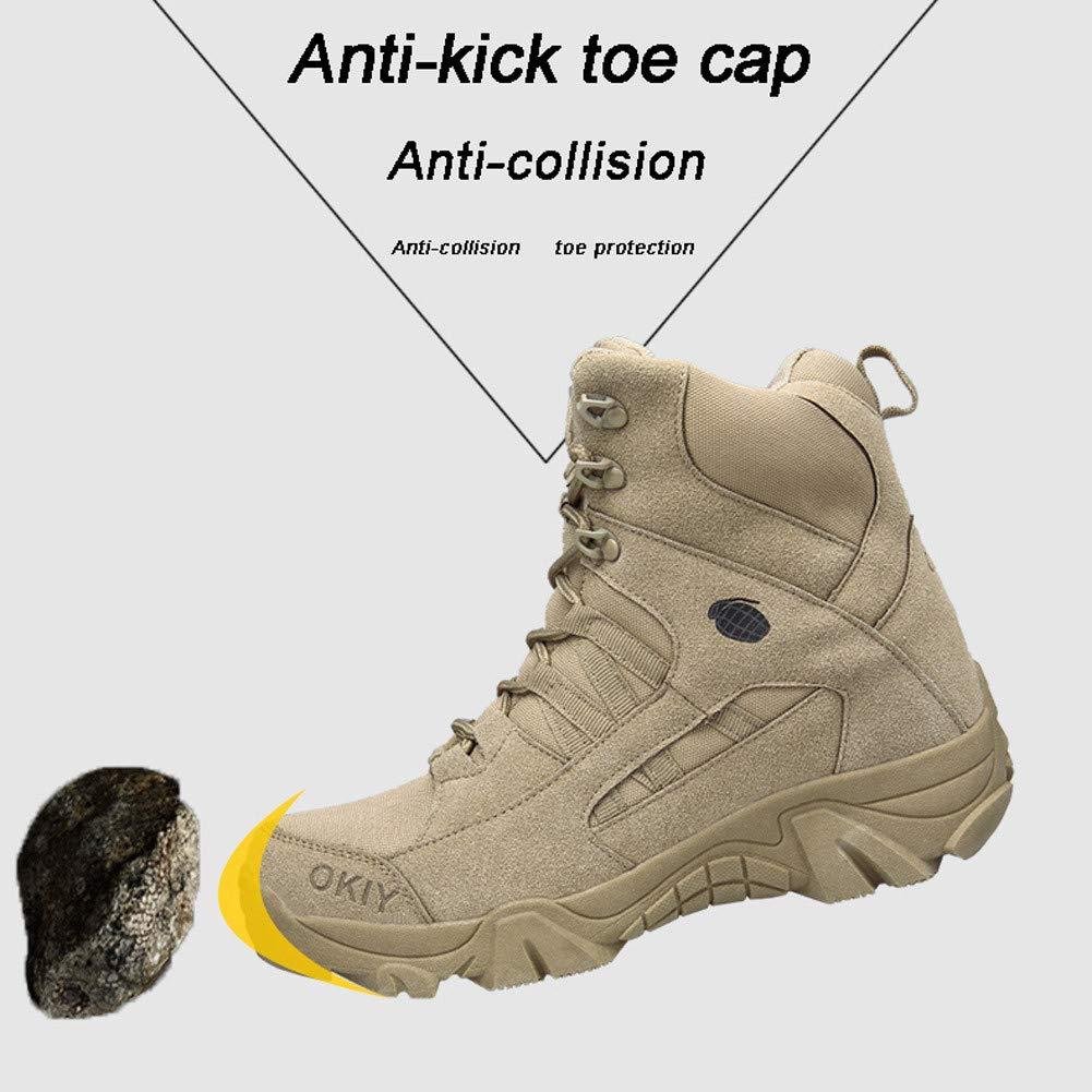 WOJIAO Ej/ército Comando Masculino Combate Desierto Invierno Al Aire Libre Senderismo Botas Aterrizaje Zapatos Militares t/ácticos