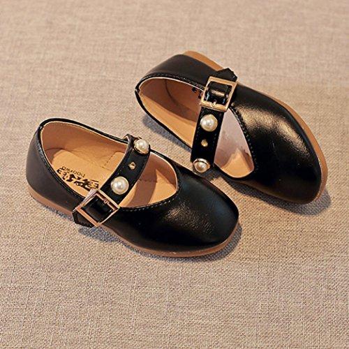 Clode® Kleinkind Kinder Mädchen Baby Wölbung Perlen Prinzessin Sandalen einzigen Casual Schuhe Schwarz